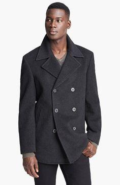 John Varvatos Star USA 'Pickett' Wool Peacoat | Nordstrom