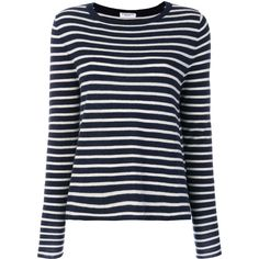 Majestic Filatures Breton stripe shirt (740 TND) ❤ liked on Polyvore featuring tops, blue, blue top, breton-striped shirts, cashmere shirt, shirt top and blue shirt