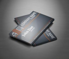 Elegant dark vintage business card template suitable for any kind real estate business card template reheart Gallery
