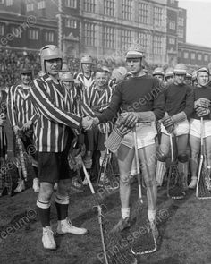 Lacrosse Players 1920's Vintage 8x10 Reprint Of Old Photo