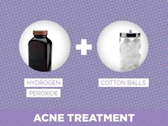 Hydrogen Peroxide + Cotton Balls = Acne Treatment