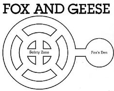 Fox and Geese is a game where you make the pattern of a wheel spoke in the ground and play tag. You play as either a fox or goose and there are specific rules for each. Learn how to play here! Pioneer Games, Pioneer Activities, Pioneer Day, Motor Activities, Activities For Kids, Goose Craft, Pioneer Crafts, Book Of Mormon Stories, Pioneer Dress
