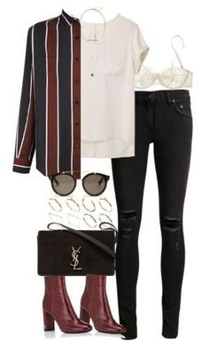 A fashion look from July 2017 featuring t shirts, zipper jeans and lingerie bra. Browse and shop related looks. Mode Outfits, Stylish Outfits, Fall Outfits, Fashion Outfits, Polyvore Outfits, Polyvore Fashion, Polyvore Mode, Teenager Fashion Trends, Modelos Fashion