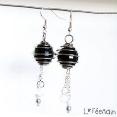 Boucles d'Oreilles Argentées  « Perle en Cage » - boucle d'oreille - Lfeemain - Fait Maison