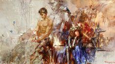 Ivan Slavinsky ~ Surrealist and impressionist painter Disney Drawings, Art Drawings, World In Motion, Pineapple Images, Fantasy Paintings, Russian Art, Beautiful Paintings, Modern Paintings, Figure Painting