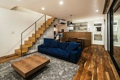 tone | 注文住宅なら建築設計事務所 フリーダムアーキテクツデザイン Kitchen Dining, Sweet Home, Stairs, House Design, Space, Architecture, Interior, Modern, Lofts