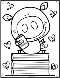 Coloring Club Library — From the Pond Coloring Club Library — From the Pond Cute Coloring Pages, Adult Coloring Pages, Coloring Pages For Kids, Coloring Sheets, Coloring Books, Free Coloring, Drawing For Kids, Art For Kids, Kindergarten Coloring Pages