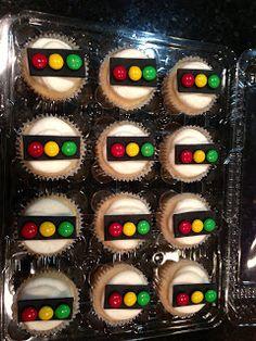 Traffic light cupcakes