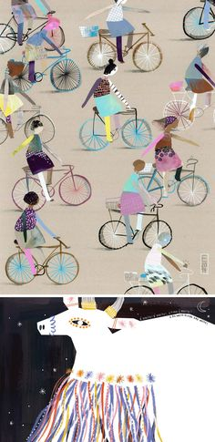 Collage Illustrations by Elisa Carareto #collage #collageart