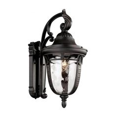 Cambridge Rubbed Oil Bronze Finish Outdoor Wall Lantern With a Water Shade