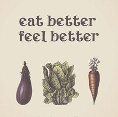 Items similar to Eggplant Eat Better Feel Better Inspirational Rustic Wall Art Print Poster Home Decor Food Vegetables Premium Print on Etsy Whole Food Recipes, Healthy Recipes, Healthy Foods, Eating Healthy, Healthy Tips, Healthy Protein, Eating Clean, Clean Eating Quotes, Clean Foods