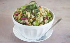 Lemon Parsley Vinaigrette adds an extra-tasty touch to this Early Spring Pasta Salad.