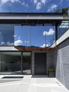 Le Plan Libre  / Waterfrom Design Mirrored Glass -  exterior