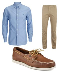"""Working Man outfit"" by sa-sarah on Polyvore featuring Lacoste, Sperry, men's fashion and menswear"