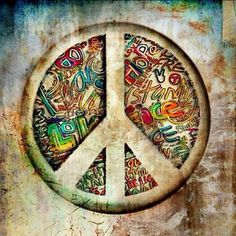 ☮ American Hippie Art ~ Peace Sign ..