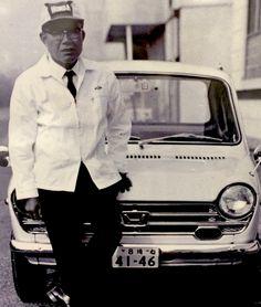 The man who understood the power of dreams. Honda the most upvoted post on r/Honda! Honda Bikes, Honda S, Honda Civic, Soichiro Honda, Steve Brown, Car Racer, Mini Bike, Vintage Japanese, Vintage Cars
