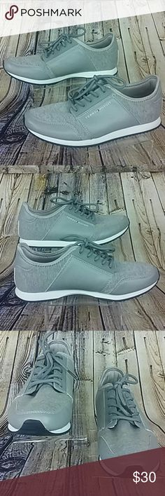 Tommy Hilfiger Gray Sneakers Tennis Shoes Lace Ups Tommy Hilfiger  Gray Lace ups Sneakers Medium Width Gently Used  Thank you for taking a closer look at this item. Please feel free to check out my closet.. Tommy Hilfiger Shoes Athletic Shoes