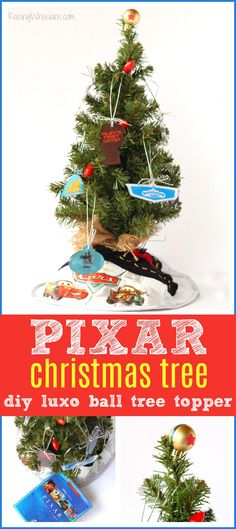 DIY Pixar Christmas Tree + Luxo Ball Tree Topper - Raising Whasians #pixar #disney #christmas #diy via @raisingwhasians