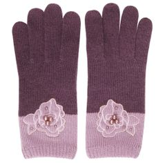 Alice Hannah AUT14/15 Winter Knit Accessories _ BabyDoll_Rose Pearl Glove_Purple