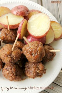 spicy brown sugar meatballs