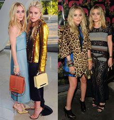 As irmãs Mary Kate e Ashley Olsen, adoram ousar em seus looks. Estampas animal print e peças douradas fazem parte do seu guarda-roupa