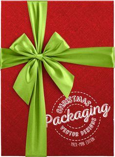 Diseños de empaquetados en vector para Navidad (Edición Pack-Man) By Ktyellow on Pagephilia Man, Packaging, Projects, Objects, Xmas, Patterns, Log Projects, Wrapping
