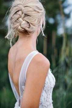 braided wedding hair - photo by Ivy Road Photography http://ruffledblog.com/palm-springs-inspired-wedding-editorial-from-australia
