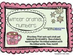Winter Ordinal Numbers Freebie