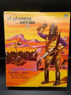 Rara-Vintage-Cipsa-Planeta-De-Los-Simios-General-Urko-Mego-Mexico-Figura-de-Accion-Sin-Usar-En-Caja