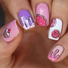 May 2020 - 21 Super Cute Birthday nails design easter Nails For Kids, Girls Nails, Fun Nails, Cute Kids Nails, Matte Nails Glitter, Best Acrylic Nails, Birthday Nail Designs, Birthday Nails, Girls Nail Designs