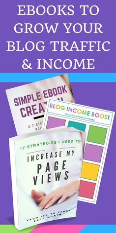 If you want to GROW your blog traffic & make more money income, you NEED these ebooks! Start with the Blog Traffic Ebook then move onto the Blog Income Boost. The concepts are not difficult to understand, but sometimes you just need someone to sit you down and tell you exactly what to do STEP-BY-STEP! That's what these ebooks are for. Instead of guessing, follow these blueprints for massive blog success. | grow my blog, blogging tips, make money blogging, blog growth ideas
