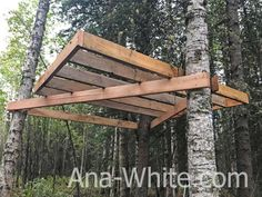 Easy to build treehouse platform