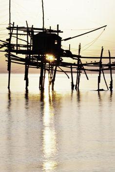 foto di Filippo Scioletti - Trabocchi all'alba