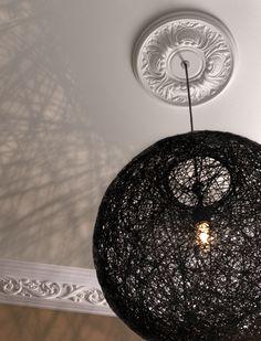 Rose de plafond d/écorative victorienne 500 mm en pl/âtre fait /à la main