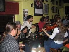 Trad at Crane Bar, Galway Ireland--someone had too much to drink (not me) and I wound up with vomit on my clean clothes!
