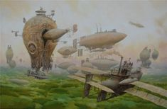 Vadim Voitekhovitch  - Sci-fi Paintings by Vadim Voitekhovitch  <3 <3