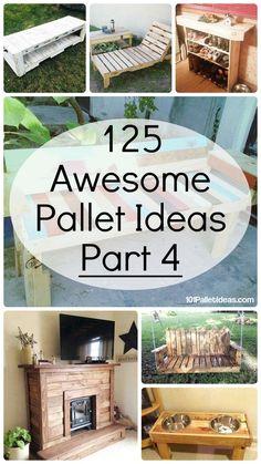 125 Awesome DIY Pallet Furniture Ideas | 101 Pallet Ideas - Part 4