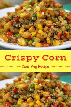 Ever thought, how to make corn fry? Well, here's a crispy corn recipe just for you. This corn fry is a simple yet delicious evening snack that can be served as a appetizer for any party. Healthy Appetizers, Appetizer Recipes, Pizza Appetizers, Healthy Snacks, Yummy Snacks, Healthy Eating, Veg Starter Recipes, Vegetarian Snacks, Vegetarian Starters