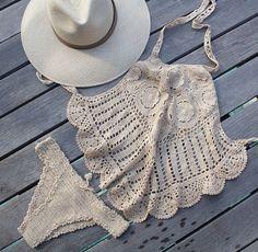 ☮ American Hippie Bohéme Boho Summer Style ☮ Crochet Bikini