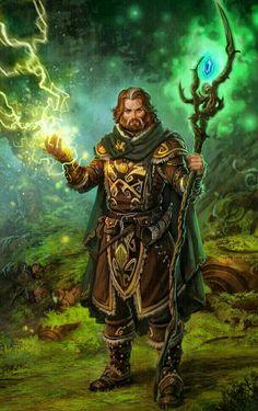 Human Male Druid - Pathfinder PFRPG DND D&D d20 fantasy