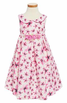 Pippa & Julie Floral Print Peter Pan Collar Dress (Toddler Girls, Little Girls & Big Girls)