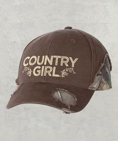 Look what I found on #zulily! Brown & Realtree 'Country Girl' Baseball Cap by Country Girl #zulilyfinds