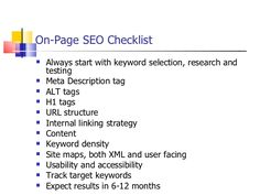 On Page SEO with MarkALine