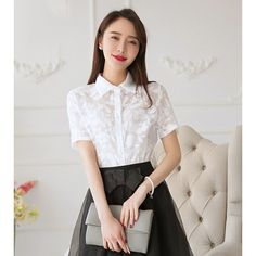 Printed Chiffon Shirt #whiteforsummer #stylish #shirts