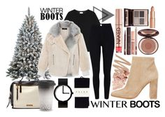 """WINTER BOOTS"" by ulyana-15 ❤ liked on Polyvore featuring Sterling, Yves Saint Laurent, Gianvito Rossi, TIBI, River Island, FOSSIL, Issey Miyake, Falke, Wedgwood and Bobbi Brown Cosmetics"