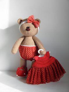 Handmade Вязаные игрушки от Яниной Ольги Crochet Toys Patterns, Amigurumi Patterns, Amigurumi Doll, Doll Patterns, Crochet Teddy, Crochet Bunny, Knit Or Crochet, Knitted Dolls, Crochet Dolls