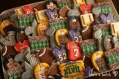 Super bowl cookies by Life's a Batch
