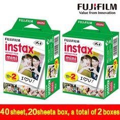 Genuine 40 Sheets White Edge Fuji Fujifilm Instax Mini 8 Film