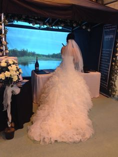 Kim in the Shooting Booth - National Wedding Show, March 2014