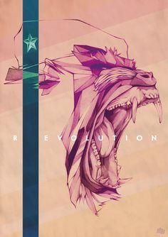 Illustration  Painting / R EVOLUTION by Dani Blázquez